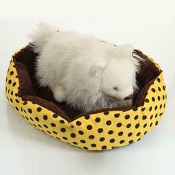 Small Pet Dog Cat Bed Puppy Cushion House Pet Soft Warm Kenn