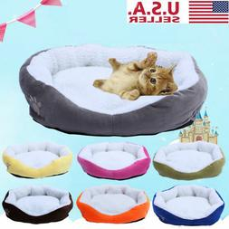 Small Pet Dog Cat Bed Puppy Cushion House Pet Soft Warm Kenn
