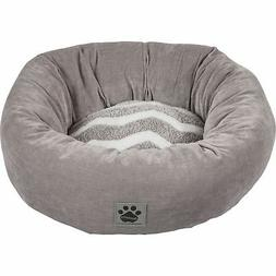 Precision Pet SnooZZy Hip as Zig Zag Donut Bed Gray and Whit