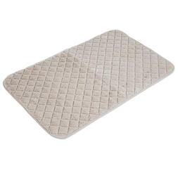SNOOZZY CREAM 41X26 QUILTED MAT
