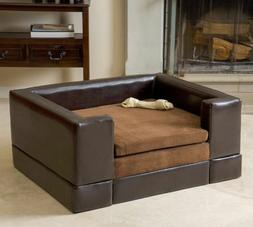 Sofa Beds For Dogs  Elevated Cushy Cushioned Leather Couch R