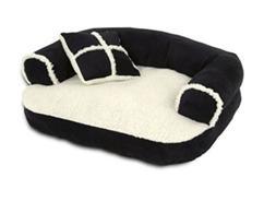 """Sofa Dog & Cat Pet Bed, Small, 20""""x16"""", Black"""