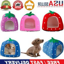 Soft Cotton Pet Dog Cat Bed House Kennel Doggy Warm Cushion