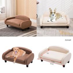 Soft Cushioned Pet Sofa Bed Dog Sofa Bed Medium & Large Dogs