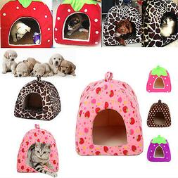 Soft Pet Dog Cat Bed House Kennel Doggy Puppy Warm Cushion B