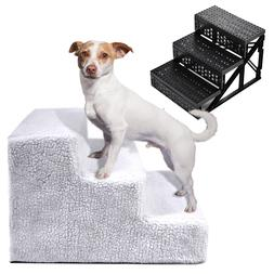 Soft Pet Stairs Cat Dog 3 Steps Ramp Small Climb