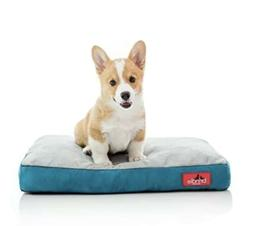 Brindle Soft Shredded Memory Foam Dog Bed with Removable Was