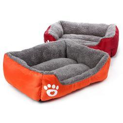 Soft Warm Waterproof Luxury Pet Dog Bed Red M