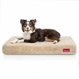 Brindle 4 Inch Memory Foam Orthopedic Dog Bed - Removable Ve
