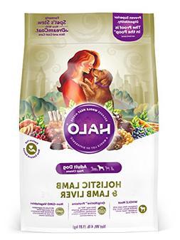 Halo Natural Dry Dog Food, Lamb & Lamb Liver Recipe, 4-Pound