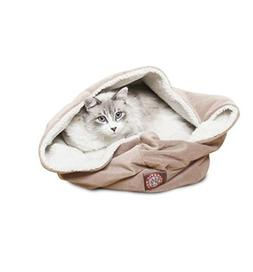 17 inch Stone Suede Burrow Cat Bed