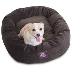 32 inch Storm Villa Collection Micro Velvet Bagel Dog Bed By