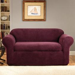 Sure-Fit Stretch Metro 2-Piece Loveseat Slipcover