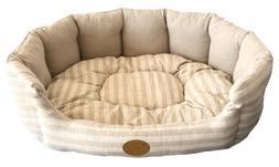 Best Pet Supplies - Lotus Bed for Pet, Tan Stripes, XL