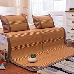 Summer Sleeping Mat and 2 Pillowcases Total 3 Sets, Bamboo C