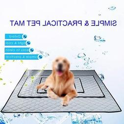 Summer Dog Cooling Mat Non-slip Pet Sleeping Pad for Home Ca
