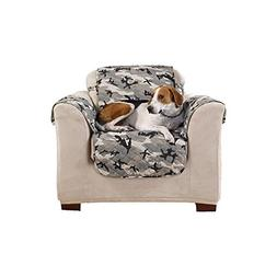 Sure Fit Camouflage Pet - Chair Slipcover  - Gray