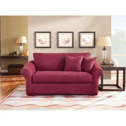 Sure Fit Stretch Suede Two Piece Sofa Slipcover