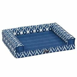 """Kirkland Signature Tailored Dog Couch Bed 28""""x36"""" Blue  Ther"""