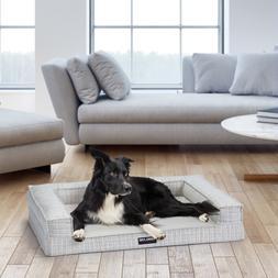 "Kirkland Signature Tailored Dog Couch Bed 28""x36"" Cream  Com"