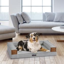 """Kirkland Signature Tailored Dog Couch Bed 28""""x36"""" Gray  Ther"""