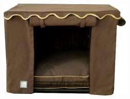 BOWHAUSNYC Teak Crate Cover, Large, Brown