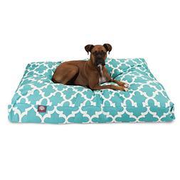 Teal Trellis Extra Large Rectangle Indoor Outdoor Pet Dog Be