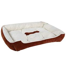 luciphia Textiles Reversible Rectangle Pet Bed with Dog Paw