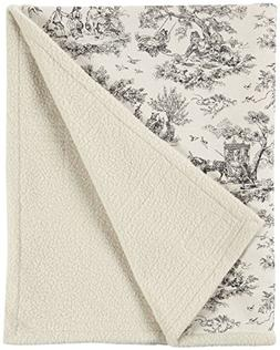 Harry Barker Toile Blanket - Black - Large