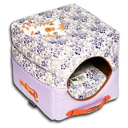 Pet Life Touchdog Floral-Galore Convertible and Reversible S
