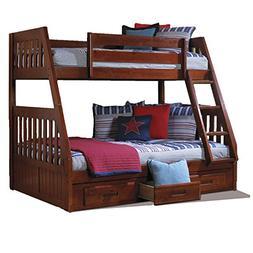 American Furniture Classics Twin/Full Bunk Bed In Merlot