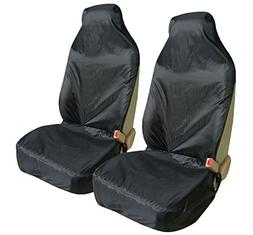 Leader Accessories Two Pet Front Seat Covers for Cars Black