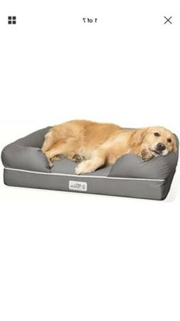 PetFusion Ultimate Dog Lounge w/ Solid Memory Foam, Waterpro
