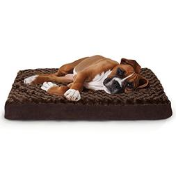 Furhaven Pet Ultra Plush Deluxe Memory Foam Pet Bed, Chocola