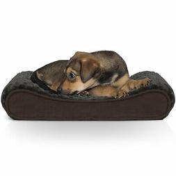 FurHaven Ultra Plush Luxe Lounger Orthopedic Dog Bed Chocola