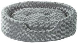 Ultra Plush Oval Dog Bed - Gray - Large