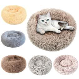 Ultra Soft Donut Round Dog Cat Pet Bed Faux Fur Cuddler Warm