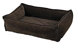 Bowsers Urban Lounger Dog Bed, Small, Chocolate Bones