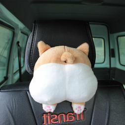 US 9.8''Novelty Corgi Bottom Car Seat Neck Pillow Dog Buttoc