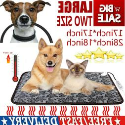 US Large Pet Dog Cat Waterproof Heated Pad Bed Puppy Warmer