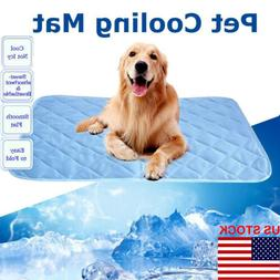 US Summer Chilly Mat Cooling Pet Dog Cat Bed Cool Gel Pad Vi