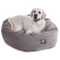 40 inch Vintage Villa Collection Micro Velvet Bagel Dog Bed