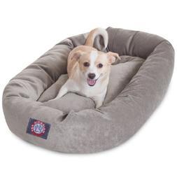 32 inch Vintage Villa Collection Micro Velvet Bagel Dog Bed