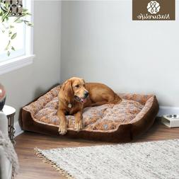 Warm Corduroy Dog Bed Waterproof Washable Soft Sofa Kennel P