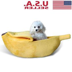 warm pet dog cat bed nest banana