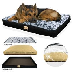 Washable Big Dog Pillow Pet Bed Soft Cotton Filling Bolster