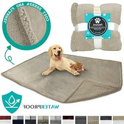 PetAmi Waterproof Dog Blanket for Bed Couch Sofa | Warm Sher