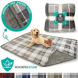 PetAmi Waterproof Dog Blanket for Bed Couch Sofa | Large She