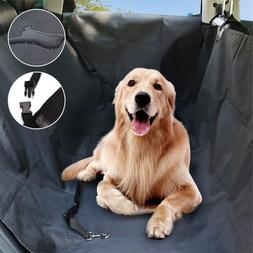 Waterproof Dog Car Seat Cover With 2 Car Door Covers & Seatb