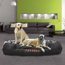 "Waterproof Jumbo Dog Bed Cushion Pillow Mattress Solid 10"" T"